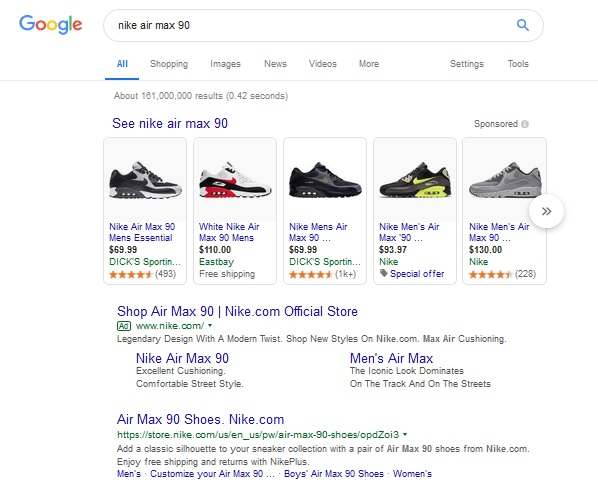 nike-google-shopping