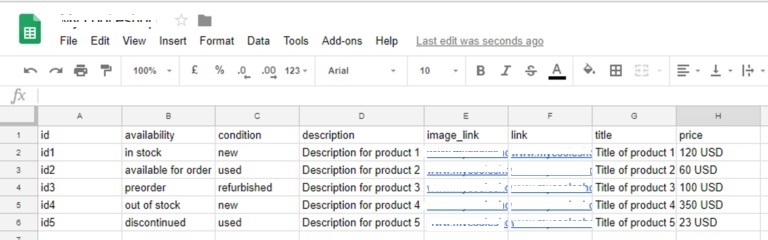 You can create your feed in Excell Spreadsheet